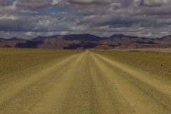 Weg naar Namibie.